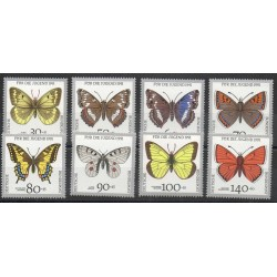 Germany - 1991- Nb 1344/1351 - Butterflies