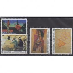 Polynésie - 1993 - No 445/448 - Peinture