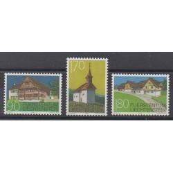 Lienchtentein - 1998 - Nb 1127/1129 - Architecture