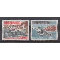 Monaco - 1990 - No 1736/1737 - Hélicoptères