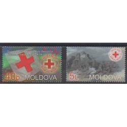 Moldavie - 2003 - No 402/403 - Santé ou Croix-Rouge