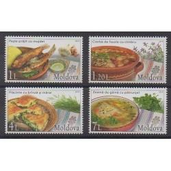 Moldova - 2014 - Nb 765/768 - Gastronomy