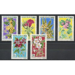 Congo (Republic of) - 1971- Nb 283/288 - Flowers