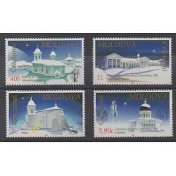 Moldova - 2001 - Nb 360/363 - Churches