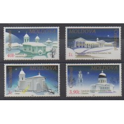 Moldavie - 2001 - No 360/363 - Églises