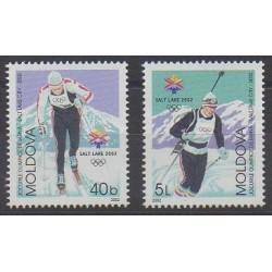 Moldavie - 2002 - No 365/366 - Jeux olympiques d'hiver