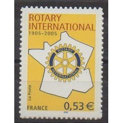 France - Self-adhesive - 2005 - Nb 52 - Rotary or Lions club