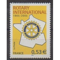 France - Poste - 2005 - Nb 3750 - Rotary or Lions club