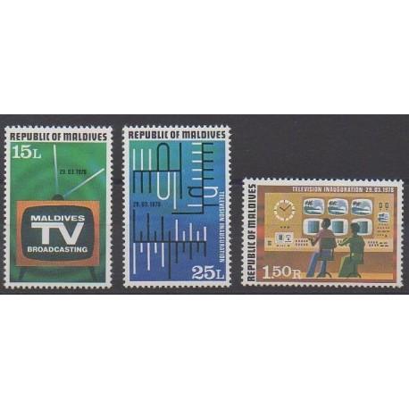 Maldives - 1978 - Nb 696/698 - Telecommunications