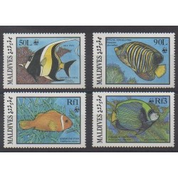 Maldives - 1986 - Nb 1077/1080 - Sea animals