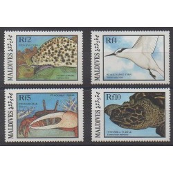 Maldives - 1986 - No 1098/1101 - Animaux