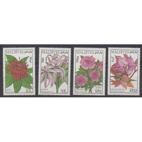 Maldives - 1986 - Nb 1110/1113 - Flowers