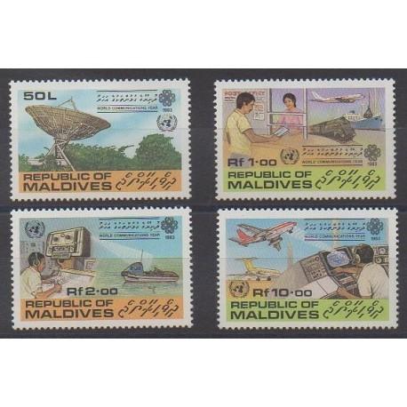 Maldives - 1983 - Nb 929/932 - Telecommunications
