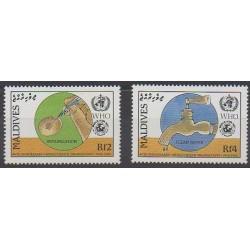 Maldives - 1988 - No 1173/1174 - Santé ou Croix-Rouge