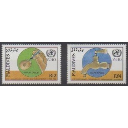 Maldives - 1988 - No 1153/1154 - Santé ou Croix-Rouge