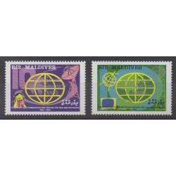 Maldives - 1989 - No 1189/1190 - Télécommunications
