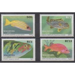 Maldives - 1989 - No 1195/1198 - Animaux marins