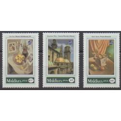Maldives - 1993 - Nb 1681/1683 - Paintings - Philately