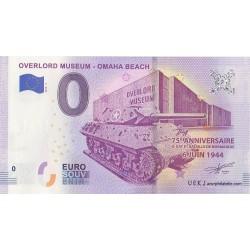 Euro banknote memory - 14 - Overlord Muséum - Omaha Beach - 2019-4