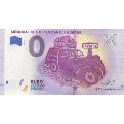 Euro banknote memory - 14 - Mémorial des civils dans la guerre - 2019-2