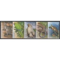 Australie - 2009 - No 3125/3129 - Espèces menacées - WWF