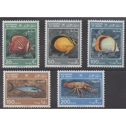Oman - 1985 - Nb 268/272 - Sea animals