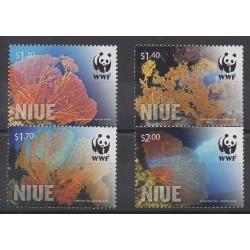 Niue - 2012 - No 946/949 - Espèces menacées - WWF - Animaux marins