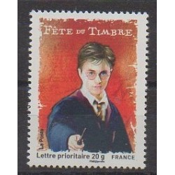 France - Poste - 2007 - No 4024a - Cinéma - Littérature