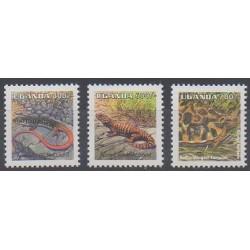 Uganda - 1998 - Nb 1623/1625 - Reptils