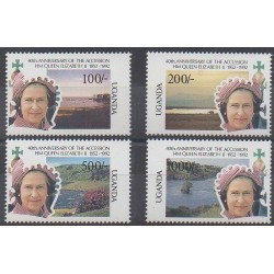 Uganda - 1992 - Nb 860/863 - Royalty