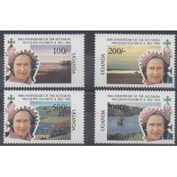 Ouganda - 1992 - No 860/863 - Royauté - Principauté