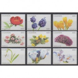Ouganda - 1998 - No 1670/1678 - Fleurs