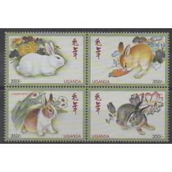 Uganda - 1999 - Nb 1699/1702 - Horoscope