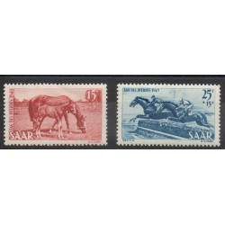 Saar - 1949- Nb 253/254 - Horses