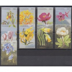 Ouganda - 1998 - No 1679/1687 - Fleurs