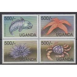 Ouganda - 1999 - No 1721/1724 - Animaux marins