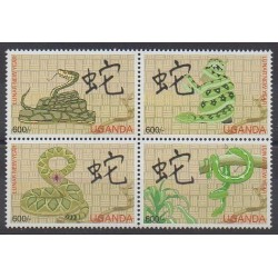 Uganda - 2001 - Nb 1929/1932 - Horoscope