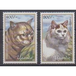 Uganda - 2001 - Nb 1955/1956 - Cats
