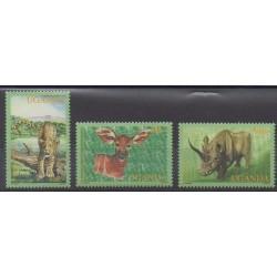 Ouganda - 2001 - No 1933/1935 - Mammifères - Espèces menacées - WWF