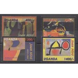 Ouganda - 2003 - No 2109/2112 - Peinture