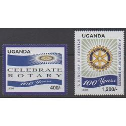 Ouganda - 2004 - No 2165/2166 - Rotary ou Lions club