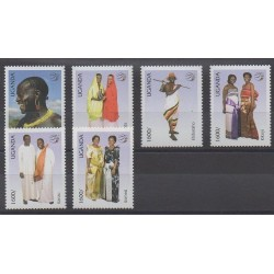 Uganda - 2007 - Nb 2213/2218 - Costumes - Uniforms - Fashion - Postal Service