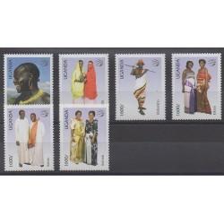 Ouganda - 2007 - No 2213/2218 - Costumes - Service postal
