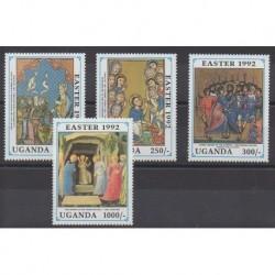 Uganda - 1992 - Nb 888/891 - Easter