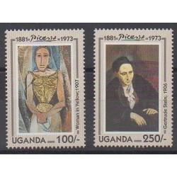 Uganda - 1993 - Nb 1033/1034 - Paintings
