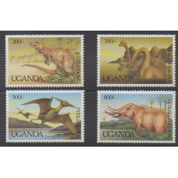 Uganda - 1992 - Nb 937/940 - Prehistoric animals