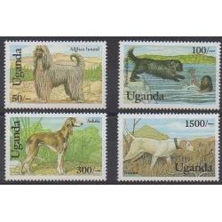 Uganda - 1993 - Nb 981/984 - Dogs