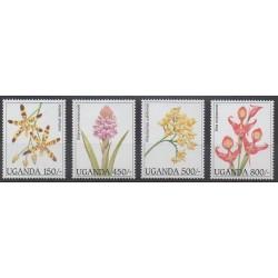 Ouganda - 1995 - No 1339/1342 - Orchidées