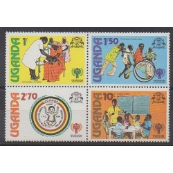 Uganda - 1979 - Nb 210/213