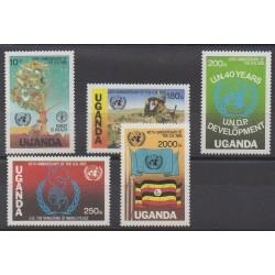 Ouganda - 1986 - No 401/405 - Nations unies